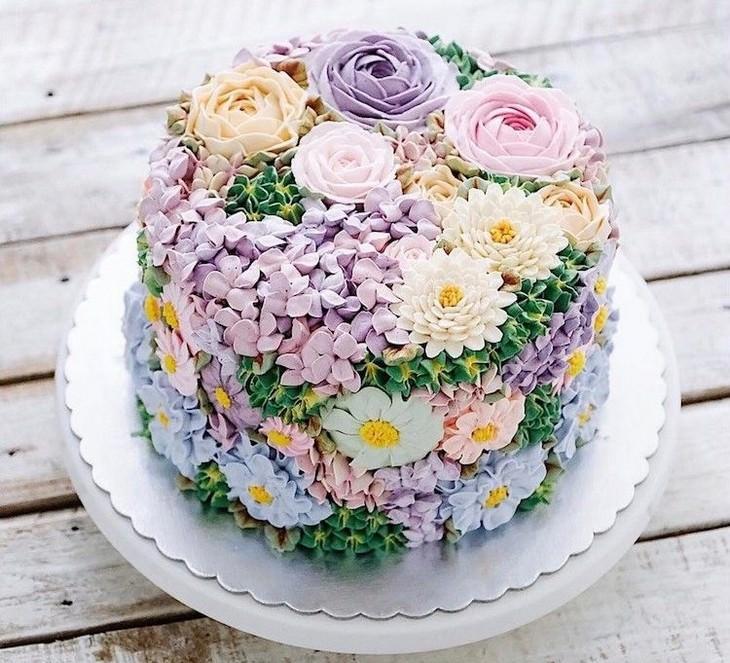 cakes, beautiful, art, spring, flowers