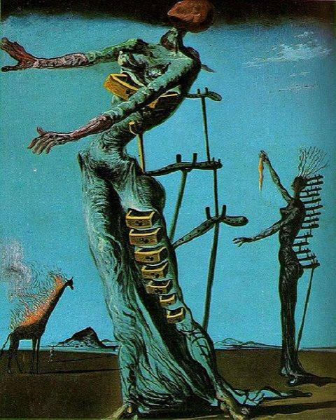 Salvador Dali artworks: The burning Giraffe