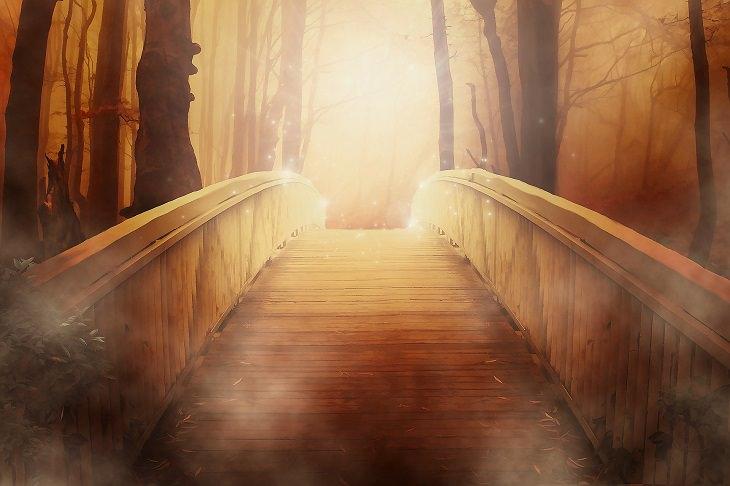 The bridge: a beautiful story: wooden bridge