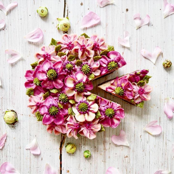 flores pasteles