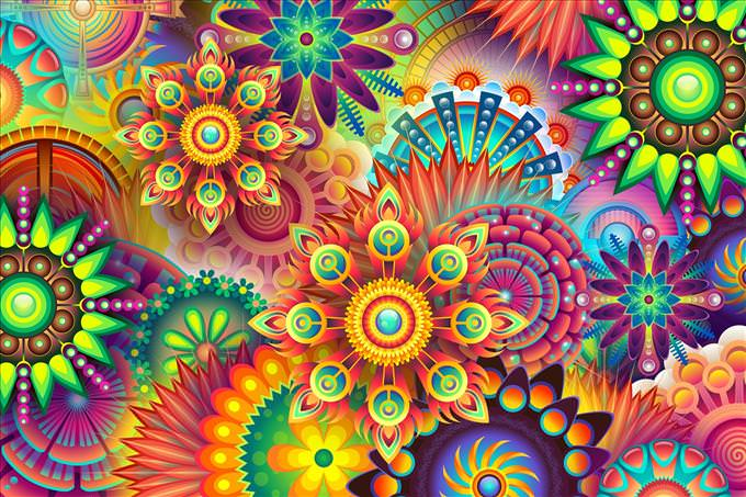 multicolored pattern