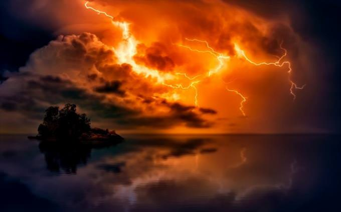 lightning at twilight