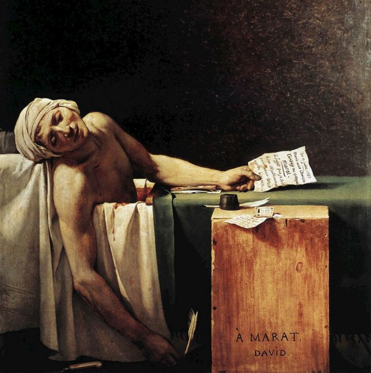 Famous French paintings: The Death of Marat