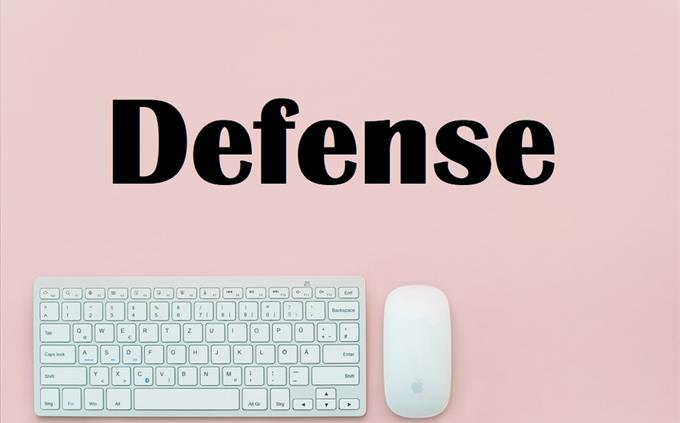 Defense on pink background