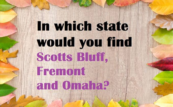US state quiz question