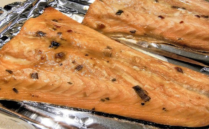 Cooking Fish: baked salmon