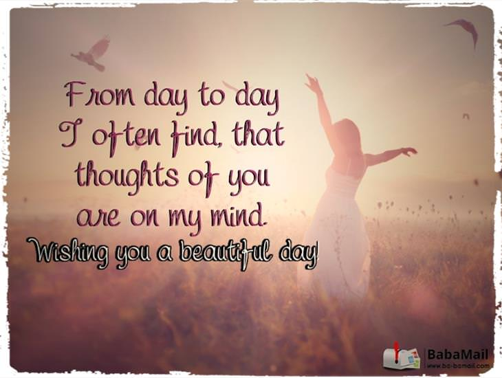 Thoughts of You Are on My Mind! Have a Great Day!