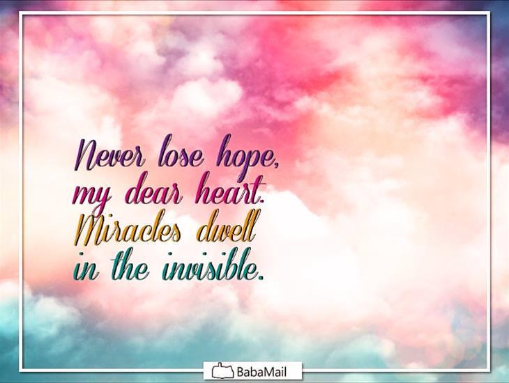 Never Lose Hope my Dear Heart