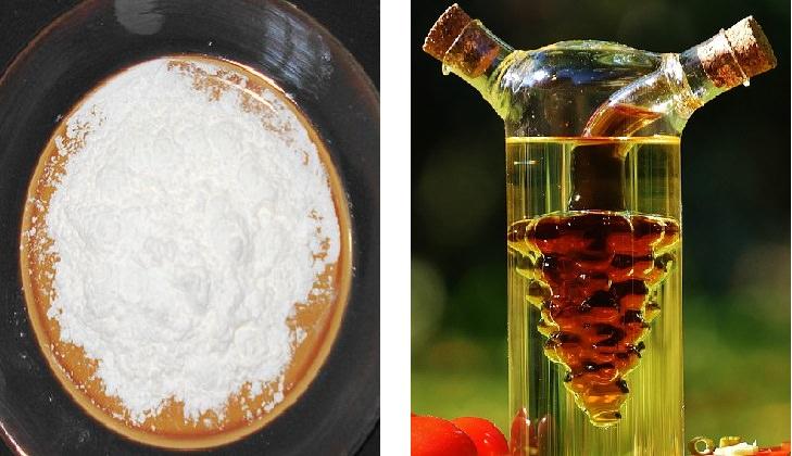 cornstarch and vinegar