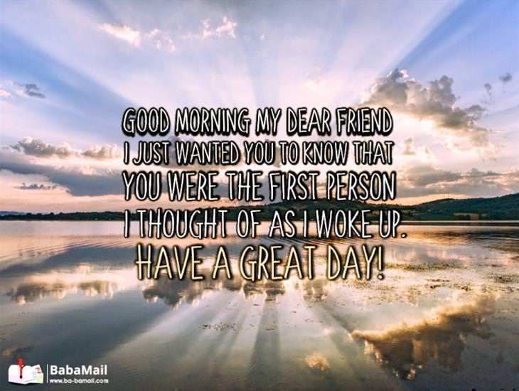Good Morning My Dear Friend...