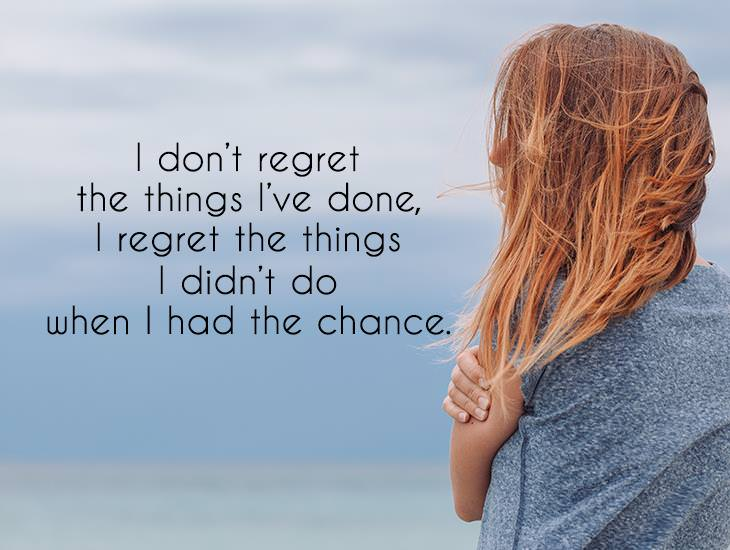 I Regret The Things I Didn't Do