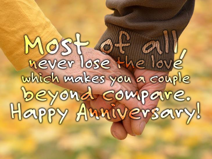 Never Lose The Love Which Makes You A Couple Beyond Compare.