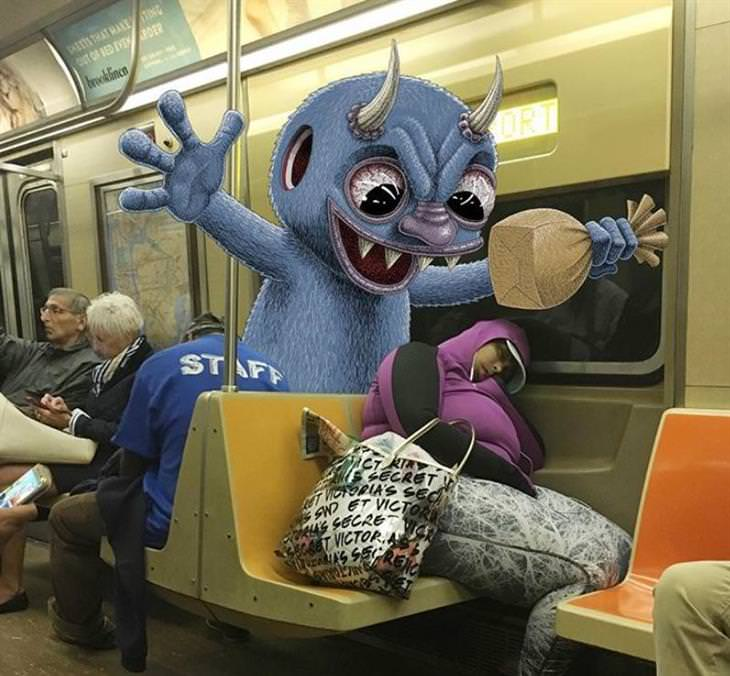 monsters on a train