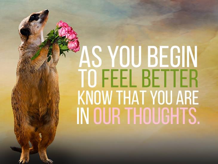 Know That You Are In Our Thoughts.