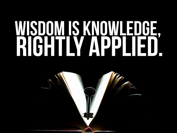 Wisdom Is Knowledge, Rightly Applied.