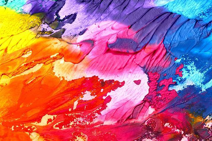 Smeared colors
