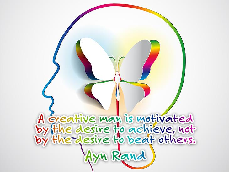 A Creative Man Is Motivated By Desire