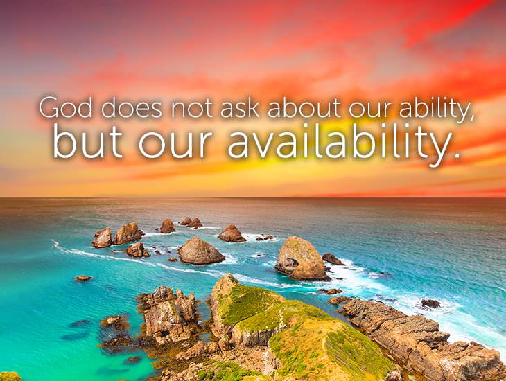 God Asks For Availability!