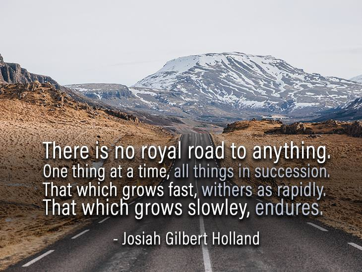There Is No Royal Road To Anything.