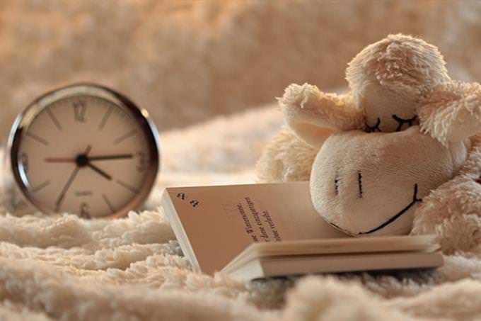 quiz: clock and stuffed toy