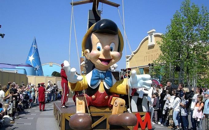 Pinocchio parade float
