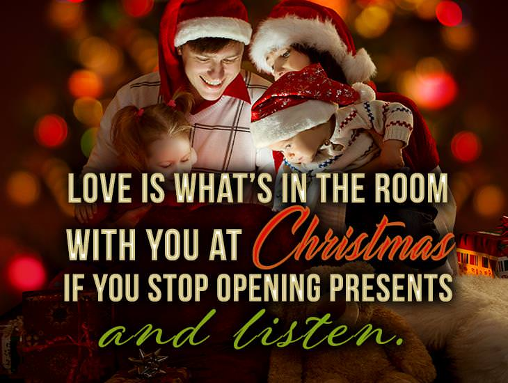 Stop Opening Presents and Listen!