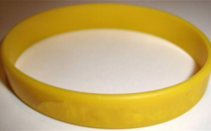 A yellow bracelet