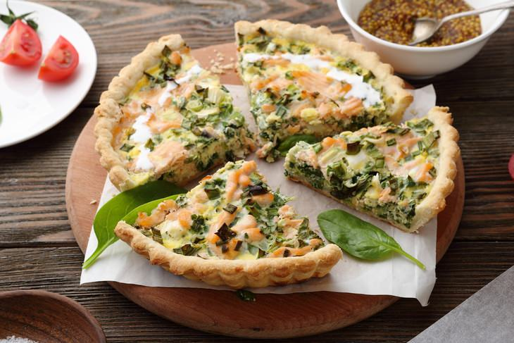 quiche with smoked salmon and kale