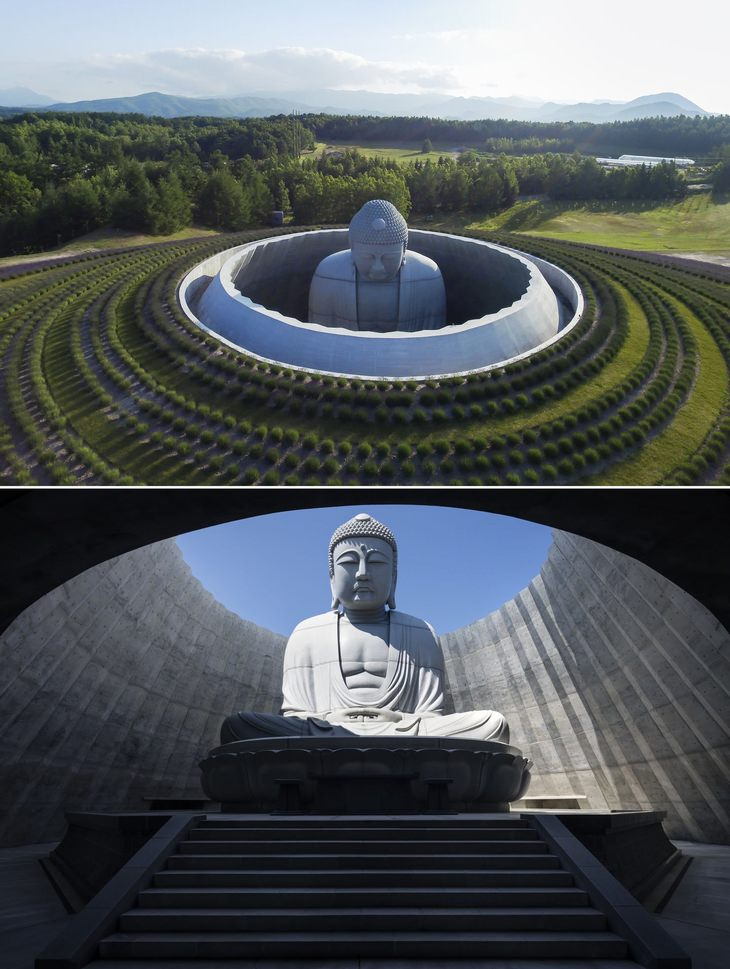 "architecture: ""Hill of the Buddha"" in Sapporo, Japan"