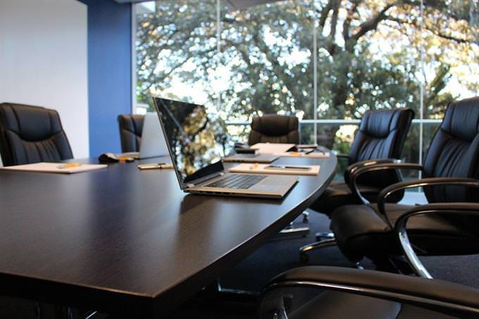 Personality test: office meeting room