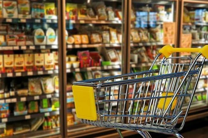 Shopping cart at the supermarket