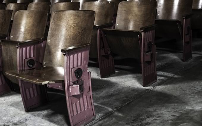 Chairs in a theater hall