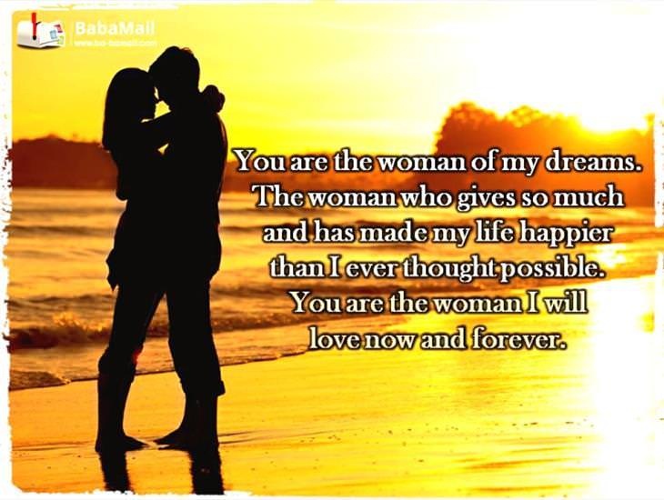 You Are the Woman I Will Always Love!