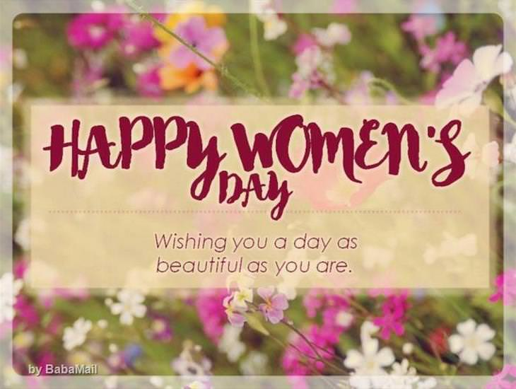 Wishing You a Great Women's Day!
