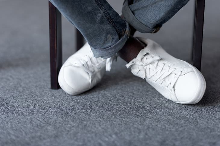 White dirty shoes