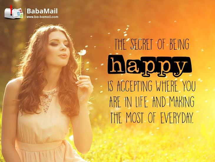 Accept Where You Are in Life and You'll Be Happy