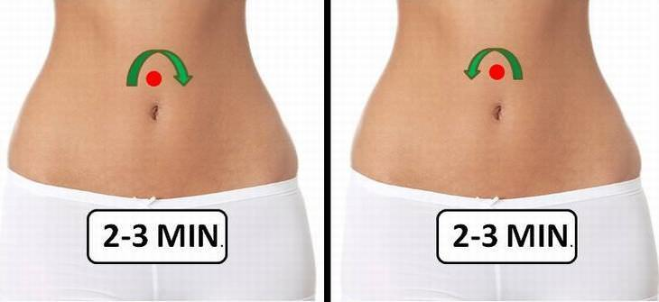 Massage for bloated belly or stomach
