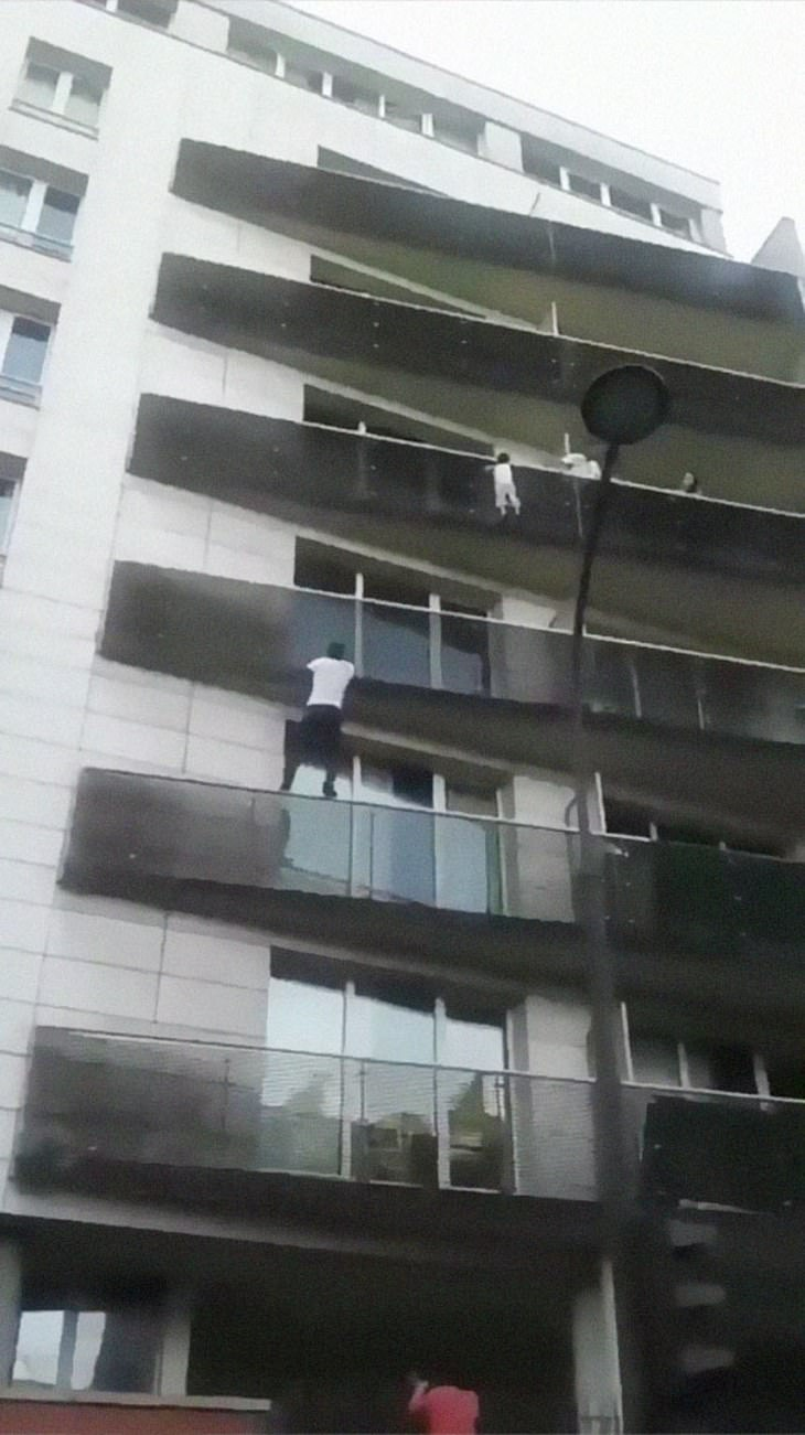 Spiderman of Paris Mamoudou Gassama heroic rescue of baby