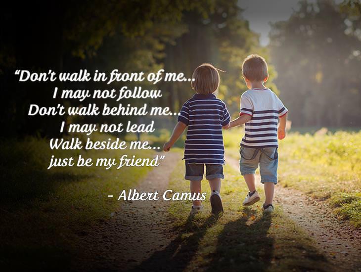 Walk Beside Me, As a Friend!