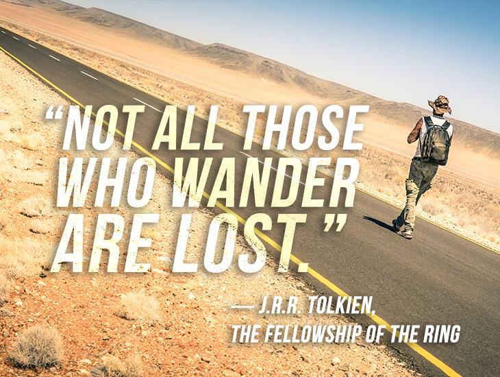 When You're Lost, It's an Opportunity to Find Yourself