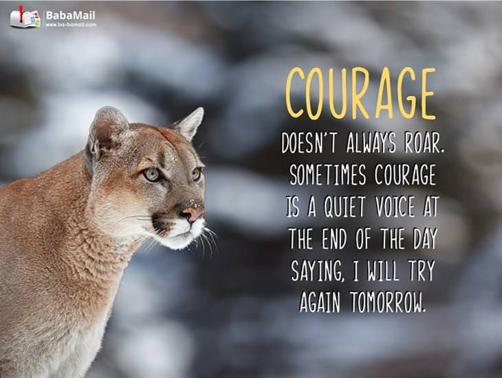 Sometimes Courage Is a Quiet Voice...