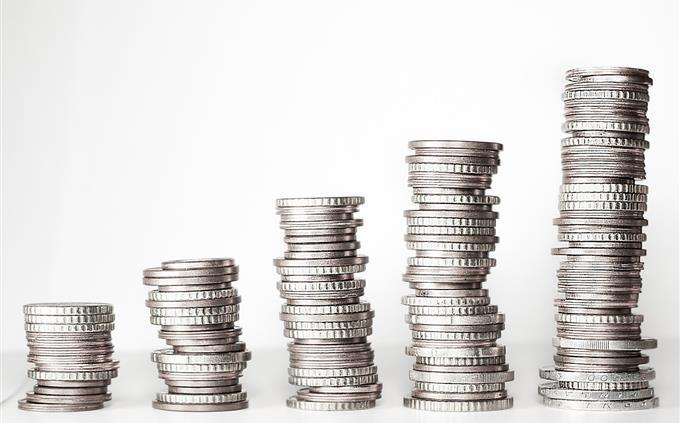 monedas simulando gráfica
