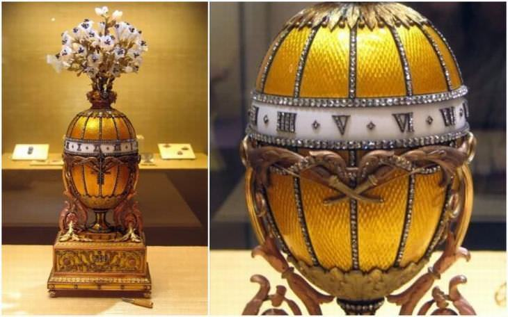 The Bouquet of Lilies Clock Egg