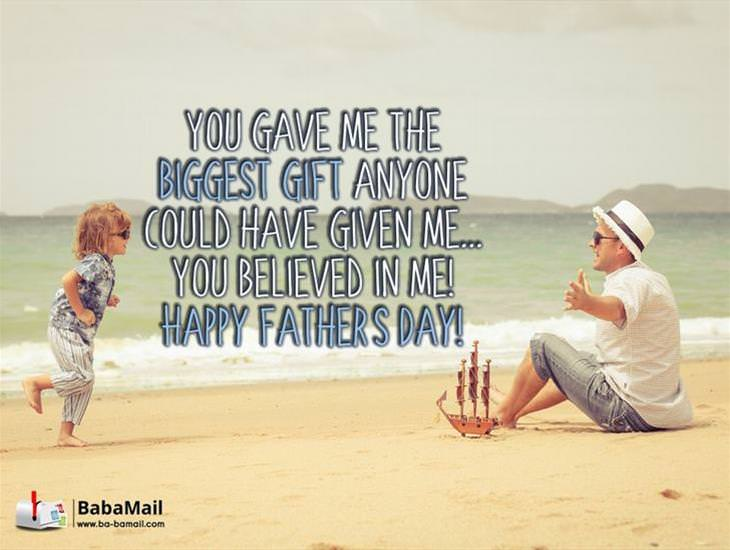 Dad! You Gave Me the Biggest Gift Anyone Could Have Given