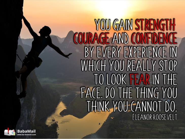 Gain Strength, Courage and Confidence