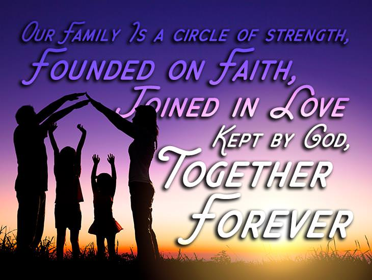 Family is Founded on Faith and Joined in Love
