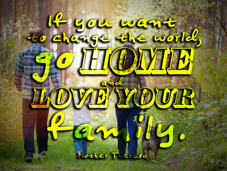 Change The World By Being There For Your Family