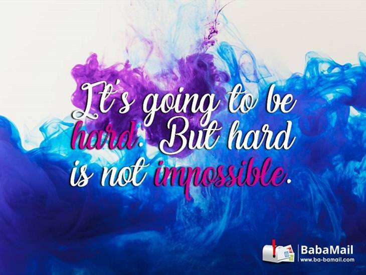 Always Remember... Hard Is Not Impossible!