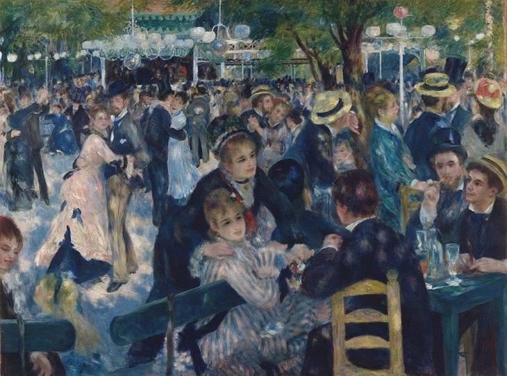 Pierre August Renoir and his most famous artworks - Ball at the Moulin de la Galette - Renoir famous paintings