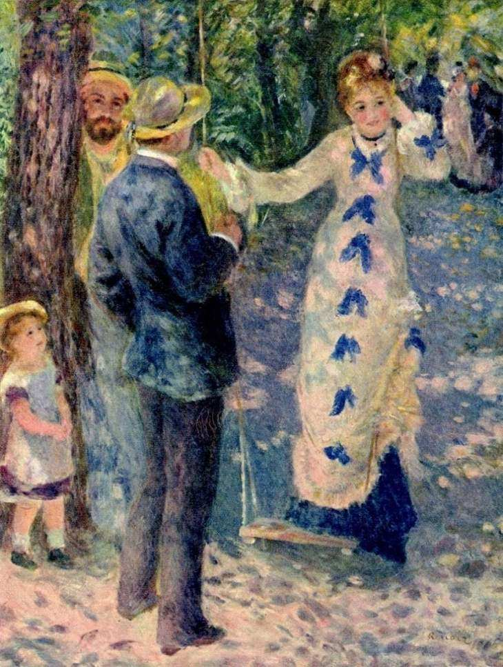 Pierre August Renoir and his most famous artworks - The Swing - renoir famous paintings